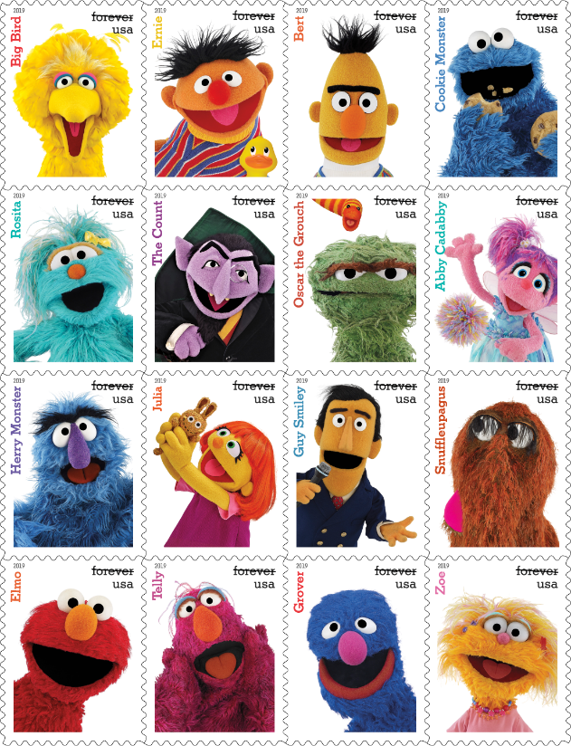 The United States Postal Service's Sesame Street stamps