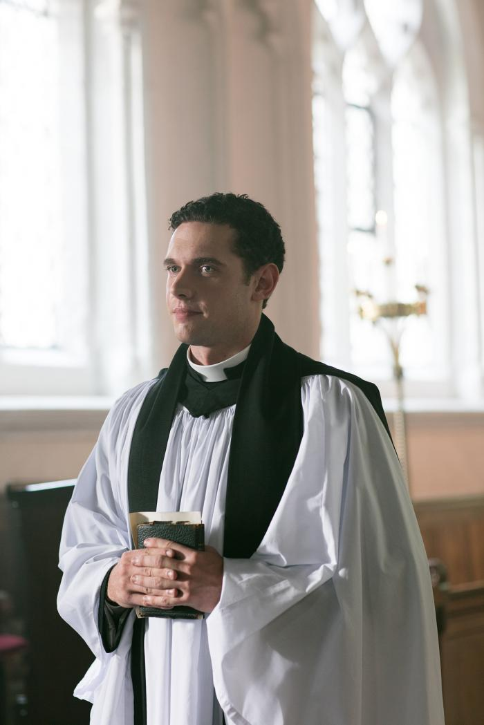 Will Davenport, Grantchester's new vicar. Photo: Kudos and MASTERPIECE