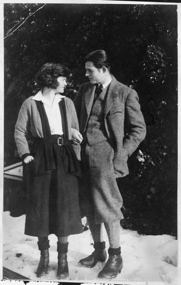 Ernest Hemingway and first wife, Hadley Richardson, in Chamby, Switzerland, 1922. Image: Ernest Hemingway Collection. John F. Kennedy Presidential Library and Museum, Boston