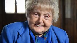 Eva Kor at Auschwitz
