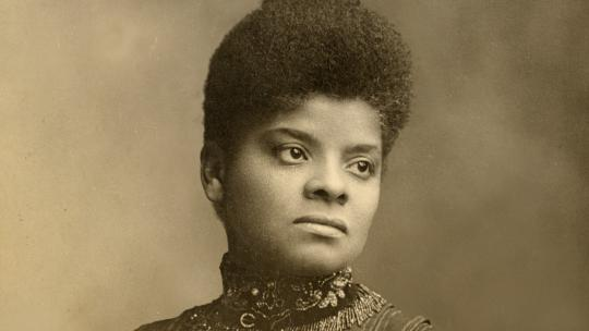 Ida B. Wells, pictured in 1893 or 1894. Photo Credit: University of Chicago Photographic Archive, apf1-08637, Hanna Holborn Gray Special Collections Research Center, University of Chicago Library