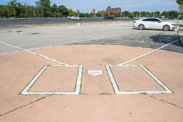 The home plate from the old Comiskey Park
