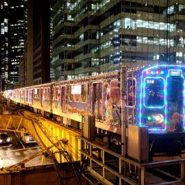 The CTA Holiday Train. Photo: CTA