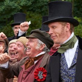 Lord Palmerston (Laurence Fox) in Victoria. Photo: Justin Slee/ITV Plc for MASTERPIECE