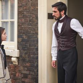 Victoria and Francatelli. Photo: Justin Slee/ITV Plc for MASTERPIECE