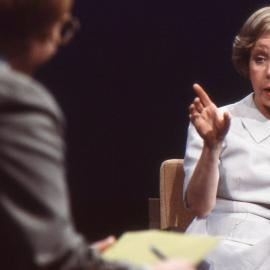 Jane Byrne at a 1979 WTTW mayoral forum