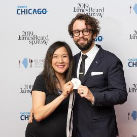 Beverly Kim and Johnny Clark at the James Beard Awards. Photo: Galdo Photography