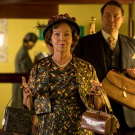 Tessa Peake-Jones as Mrs. C and Christian McKay as Anthony Hobbs in Grantchester. Photo: Colin Hutton/Kudos and MASTERPIECE