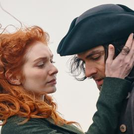 Demelza and Ross in season 5 of Poldark. Photo: Mammoth Screen