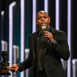 Dave Chappelle at the Mark Twain Prize ceremony. Photo: Jati Lindsay