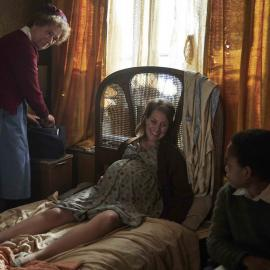 Nurse Crane with Dena and Terry in 'Call the Midwife.' Photo: BBC / Neal Street Productions