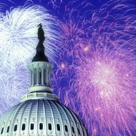 Fireworks over the U.S. Capitol. Photo: Naglestock.com/Alamy Stock Photo