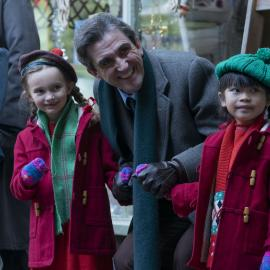 Dr. Turner with his children in 'Call the Midwife.' Photo: BBC Worldwide Limited