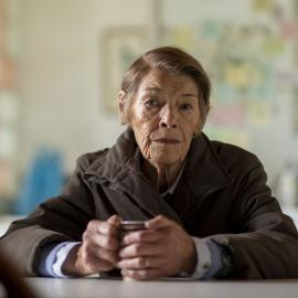 Glenda Jackson as Maud in 'Elizabeth is Missing.' Photo: STV Productions