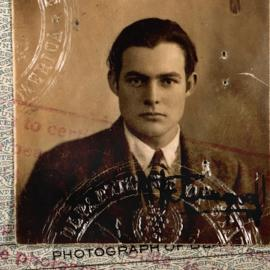 Ernest Hemingway's 1923 passport photo. Image: Ernest Hemingway Photograph Collection. John F. Kennedy Presidential Library and Museum, Boston