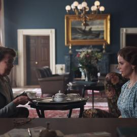 Eleanor Roosevelt and Princess Märtha in 'Atlantic Crossing'