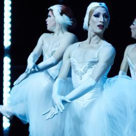 "Les Ballets Trockadero de Monte Carlo performing ""Swan Lake."" Photo: Laura Nespola, courtesy Merrywidow Films"