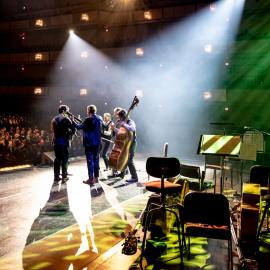The Punch Brothers performing in 'Kennedy Center at 50.' Photo: Michael Butcher, Elman Studios