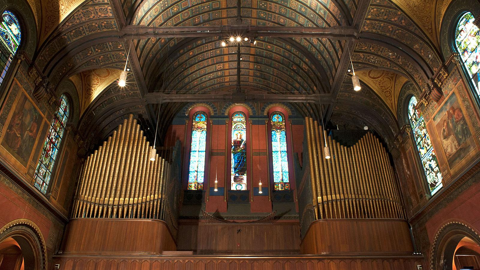 The Trinity Church Organs Have A Combined 7,000 Pipes. Photo Credit:  Katherine Castro