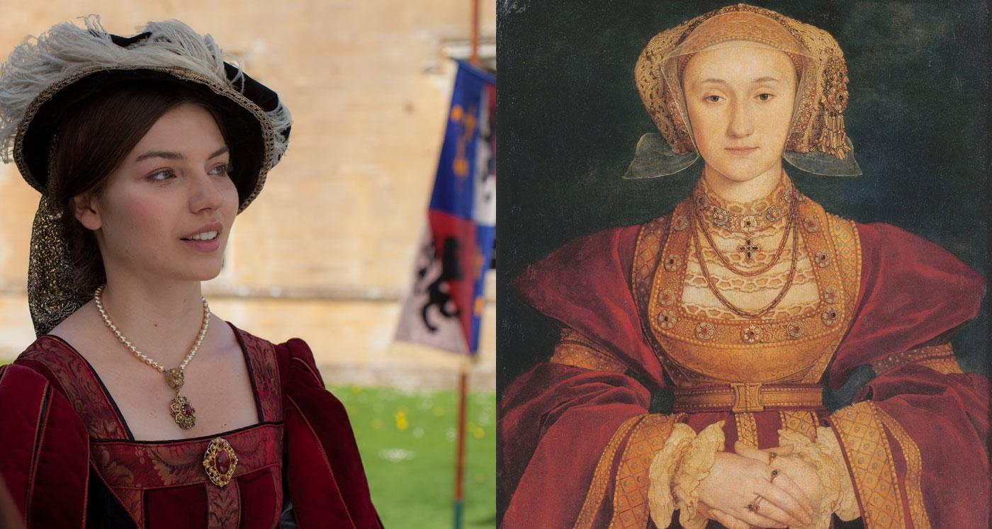 Rebecca Dyson Smith as Anne of Cleves. (Laurence Cendrowicz / © Wall to Wall South Ltd)