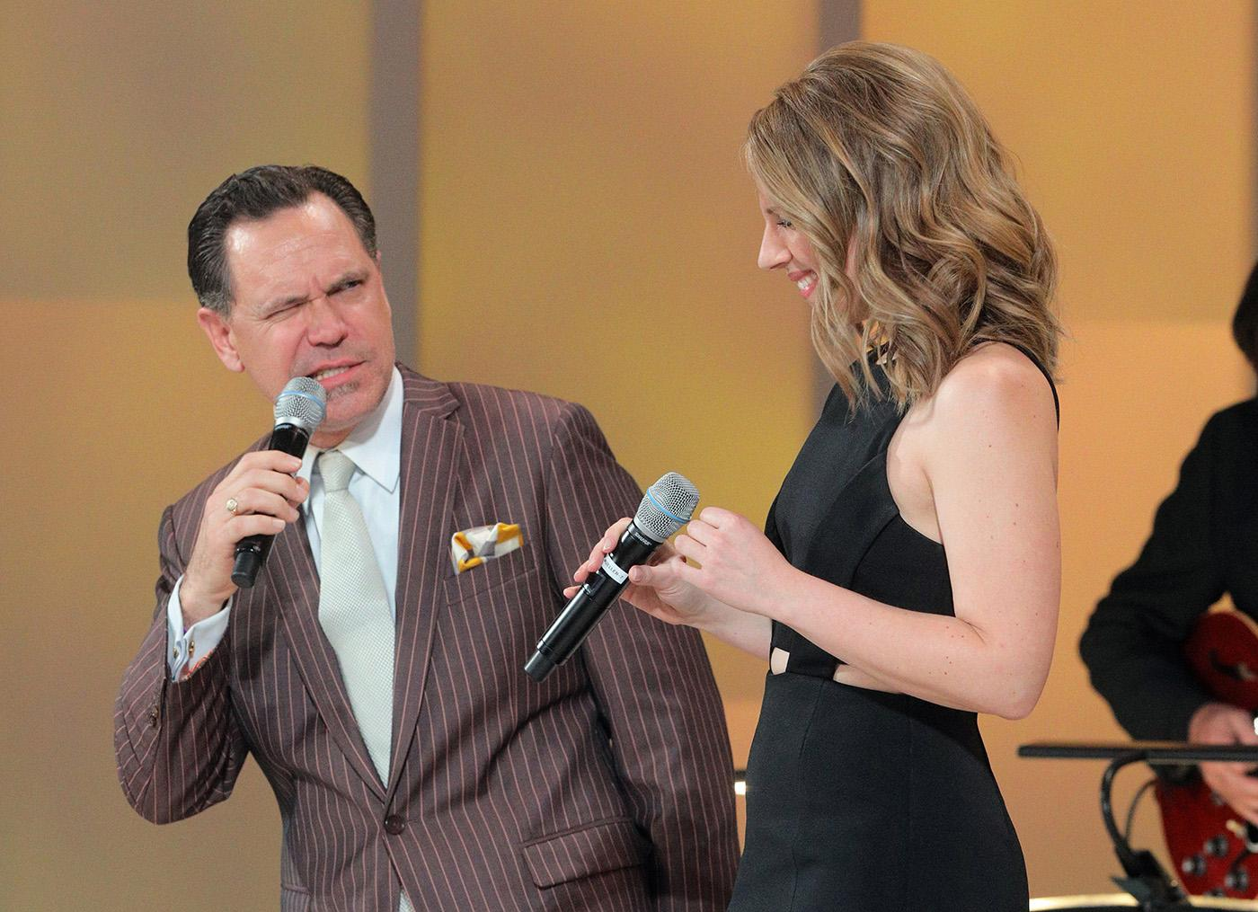 Jessie Mueller with Kurt Elling at Chicago Voices. (Cory Weaver, courtesy Lyric Opera of Chicago)