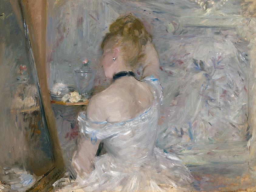 Berthe Morisot. Woman at Her Toilette, 1875/80. The Art Institute of Chicago