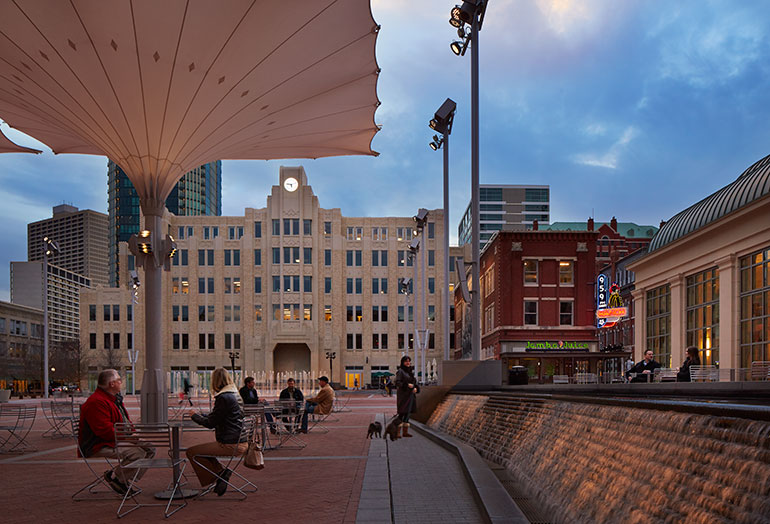 Sundance Square; Photo Credit: Steve Hall at Hedrich Blessing
