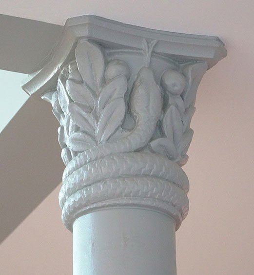 Tops of some columns at ADAM Architecture