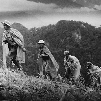 North Vietnamese Army soldiers on the Ho Chi Minh Trail. 1969. Photo: Le Minh Truong/Doug Niven