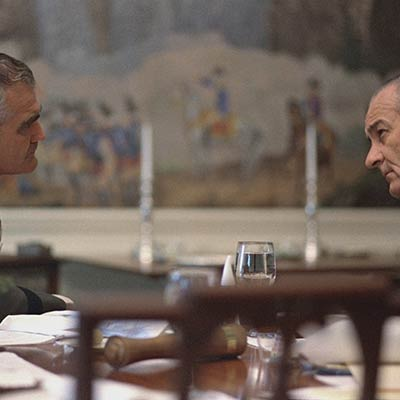 General William Westmoreland and President Lyndon B. Johnson. April 4, 1968. Photo: Lyndon B. Johnson Presidential Library, Audiovisual Archives