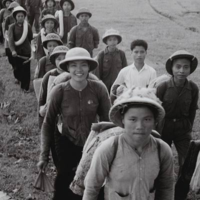 Young North Vietnamese join the Youth Shock Brigades Against the Americans for National Salvation. Photo: Vietnam News Agency