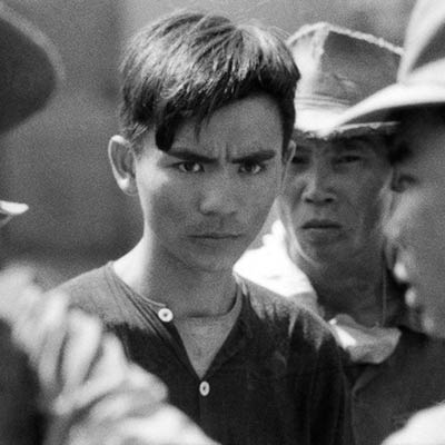 Vietnamese farmer detained for questioning. 1967. Photo: Philip Jones Griffiths/Magnum Photos