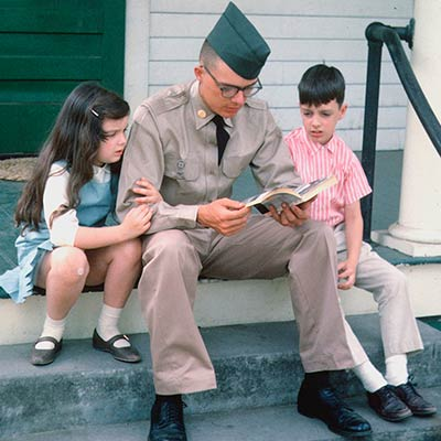 American soldier with his siblings before leaving for Vietnam. 1965. Photo: The Crocker Family