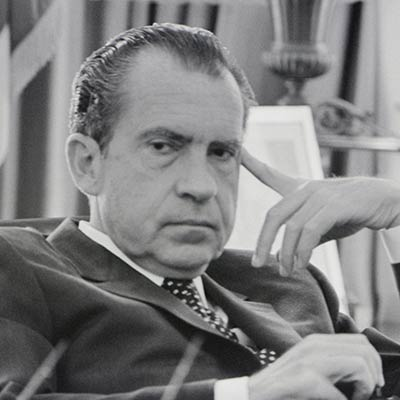 President Richard M. Nixon in the Oval Office. February 19, 1970. Photo: Richard Nixon Presidential Library and Museum