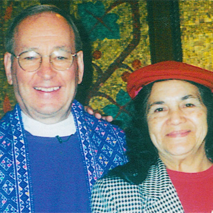 Father Chuck with dolores huerta