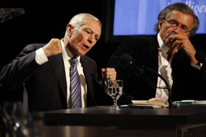 General Wesley Clark and Nouriel Roubini